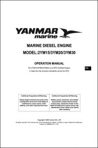 Yanmar 2YM15 Marine Diesel Engine Operation Manual