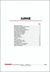 Yanmar 3JH4E marine diesel engine Installation Manual