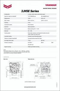 Yanmar 3JH5E marine diesel engine Datasheet