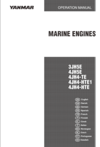 Yanmar engine 3JH5E Operation