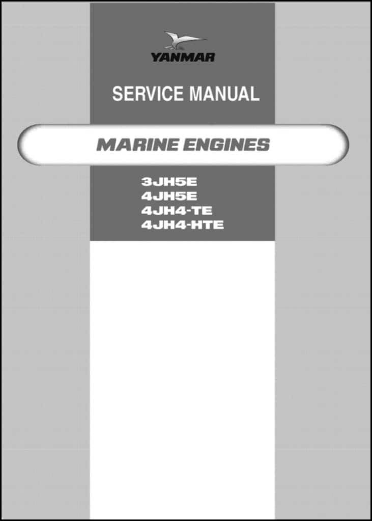 Yanmar 3JH5E Marine Diesel Engine Service Manual