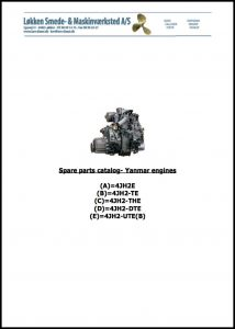cover of Yanmar 4JH2 Series Parts Catalog