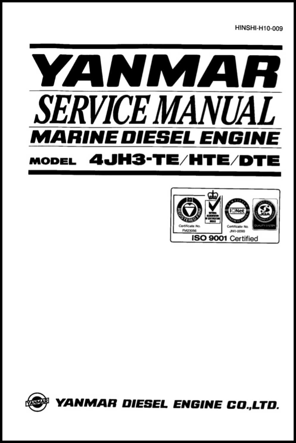 Yanmar 4JH3 Service Manual