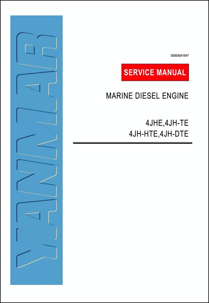 Yanmar 4JH5E marine diesel engine Workshop Manual
