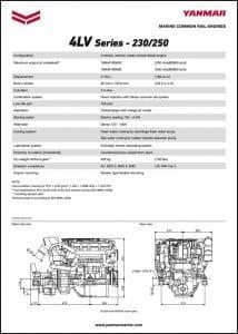 Yanmar 4LV Series marine diesel engines Datasheet