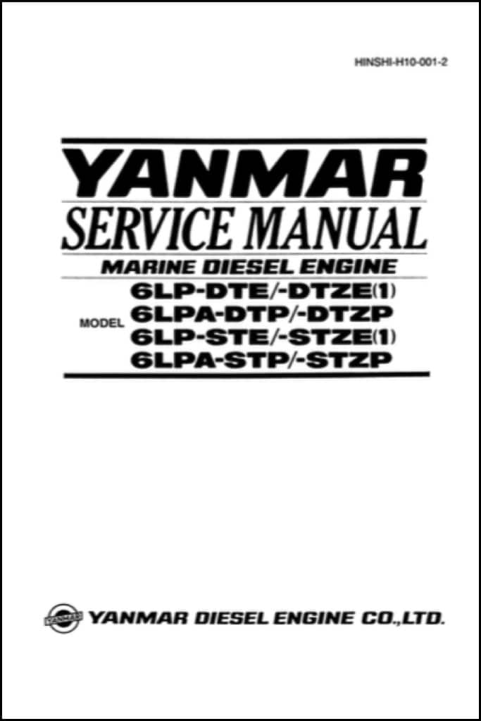 yanmar 6lp dte marine diesel engine service manual marine diesel rh marinedieselbasics com Suzuki Marine Manuals Marine Winch Manual