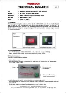 Yanmar 6LY440 SA-D Software Reprogramming Technical Bulletin