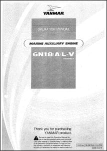 Yanmar 6N18(A)L-V marine diesel engine Operation Manual