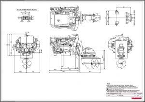 Yanmar 8LV320Z-ZT370 diesel engine Drawing