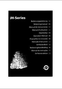 Yanmar diesel engine JH series Operators manual