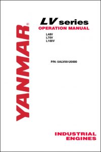 Yanmar L48V diesel engine Operation Manual