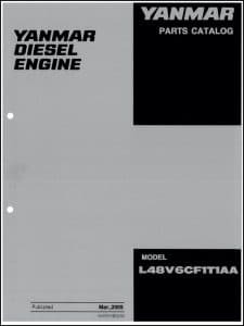 Yanmar L48V6CF1T1AA marine diesel engine Parts Catalog