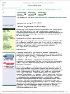 Yanmar Marine Diesel Engines Identification Guide