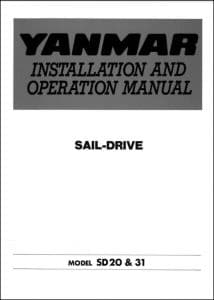 Yanmar SD20 Installation and Operation Manual 1997