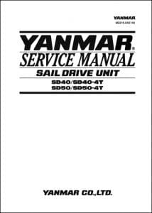 Yanmar saildrive SD40 Service Manual