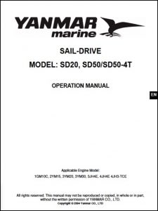 Yanmar Saildrive SD20 Operation Manual 2004