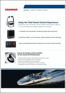 Yanmar Vessel Control System Brochure