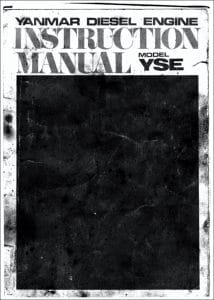Yanmar YSE marine diesel Instruction Manual
