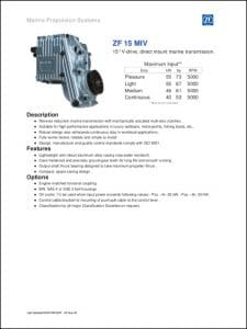 ZF 15M1V marine transmission Technical Guide