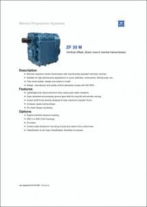 ZF 30M marine transmission Brochure