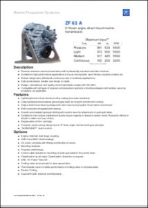 ZF 63A Marine Transmission Technical Guide