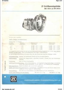 ZF BW6M Marine Transmission Operating Instructions
