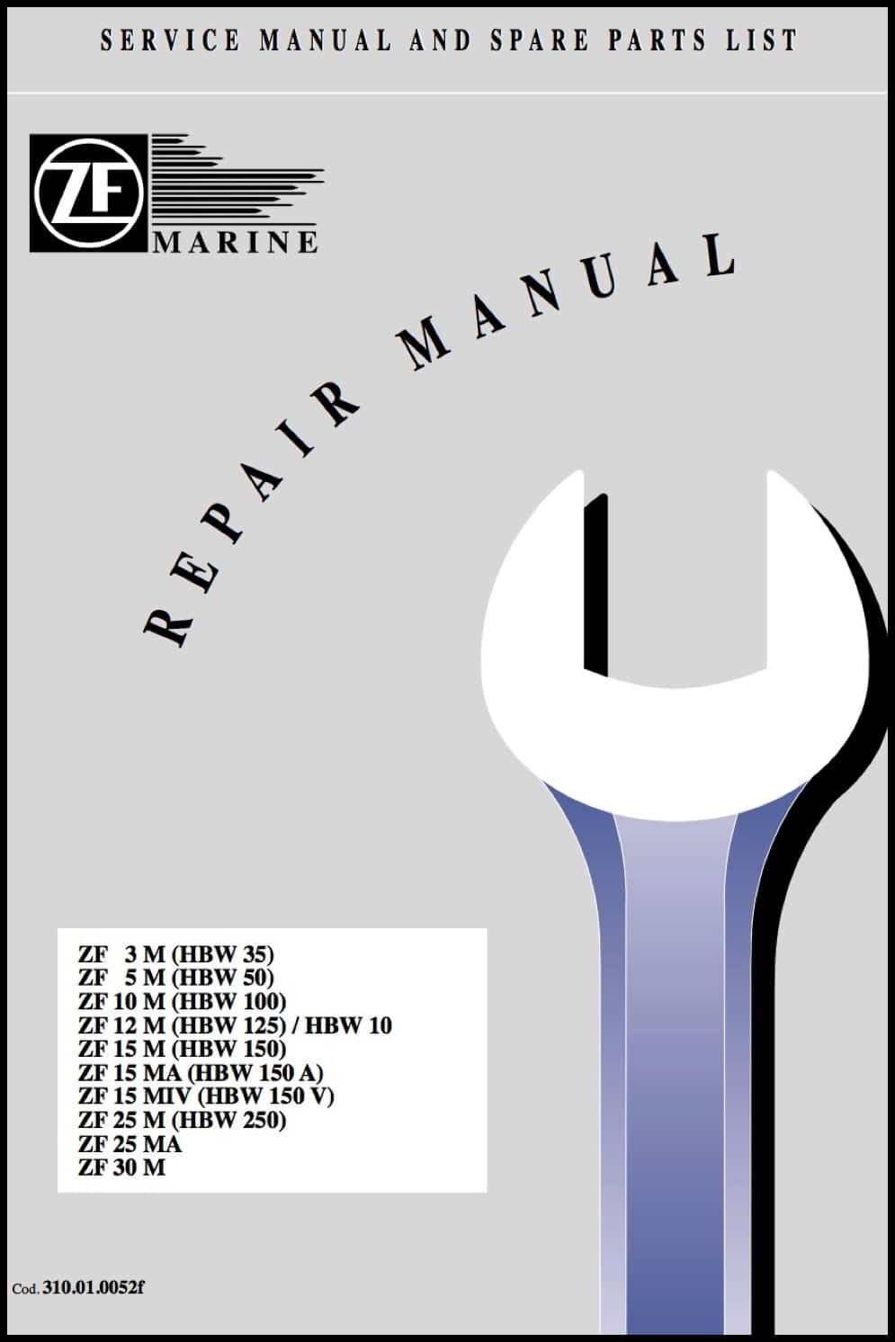ZF ZF3M Marine Transmission Repair Manual