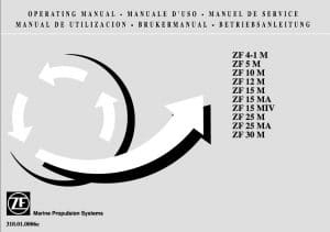 ZF ZF4-1M Marine Transmission Operating Manual