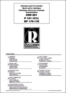 cover of Ruggerini CRD951 Spare Parts Catalog
