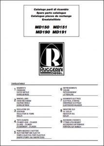 cover Ruggerini diesel engine MD150-159 Spare Parts Catalog