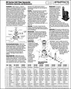 Groco BV Seacock Manual