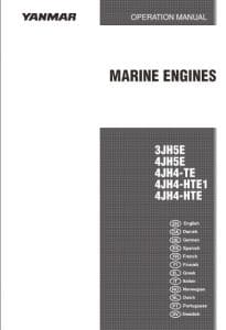 Yanmar Diesel Engine 3JH5E Operation Manual