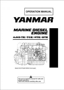 Yanmar diesel engine 4JH3-DTE Operation manual