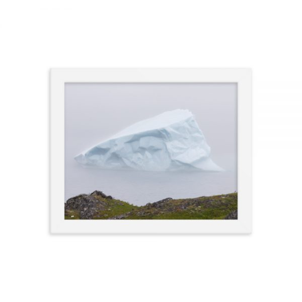 "Framed photograph ""Face in a Triangular Iceberg near Land"" from Marine Diesel Basics"