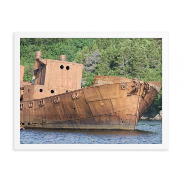 "Framed fine art photograph "" Abandoned Whaling Ship Rusting in Labrador, Canada"" from Marine diesel Basics"